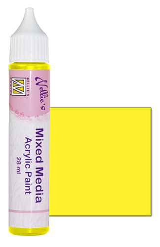 Mixed media paint satin yellow