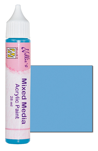 Mixed media paint satin light blue