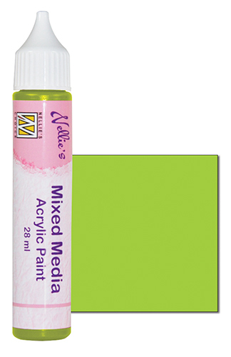 Mixed media paint satin lime