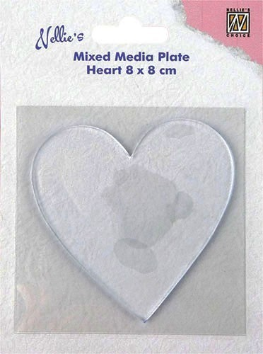 "Mixed Media Plate ""heart-shape"""