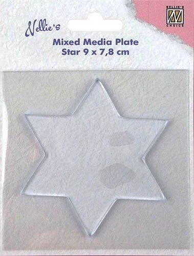 "Mixed Media Plate ""star-shape"""