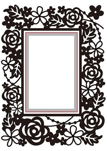 "Hobby Solution Emb.& Die Cut ""rectangle-floral"""