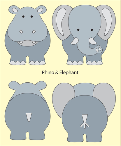 DADA babydies - Rhino en Elephant build up