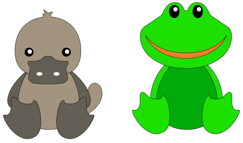 "DADA animals dies ""Duck & frog"""