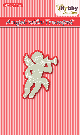 Hobby solutions Die Cut Angel with trumpet