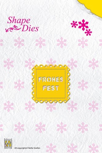 Shape Die Text Frohes Fest (text fits in SD014)