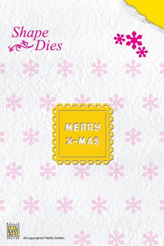 Shape Die Text Merry Christmas (text fits in SD014)