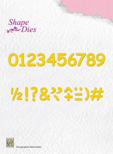 Shape Dies - Numbers & punctuation marks