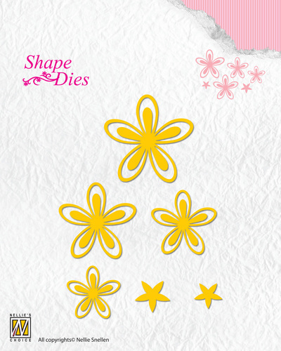 Shape Dies - Text - Flowers-3