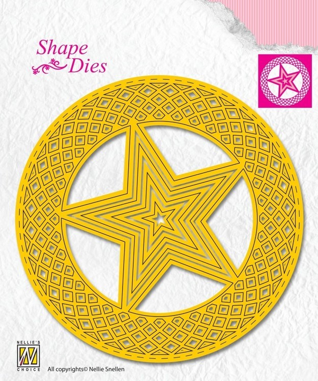 "Shape Dies ""5-point stars in circle"""