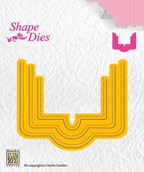 "Shape Dies rectangle ""pocket"""