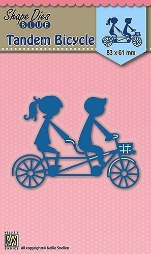 "Shape Dies blue ""Tandem bicycle"""