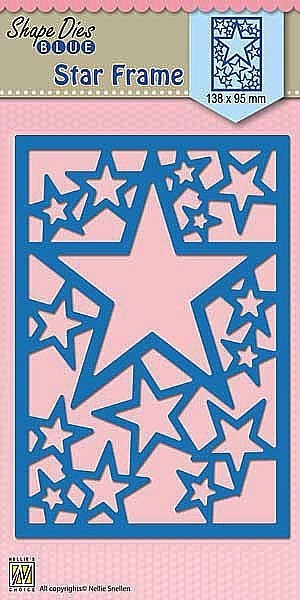 "Shape Dies Blue ""Star Frame"""