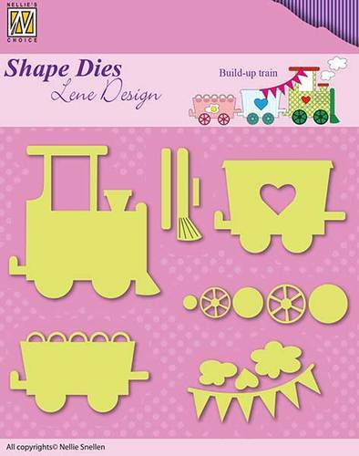 Shape Dies - Lene Design - Baby serie - Build-up train