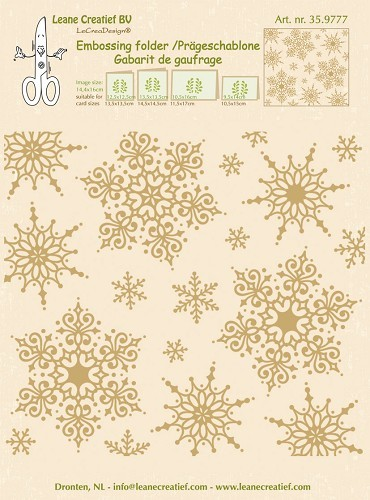 Embossing folder snowflakes background