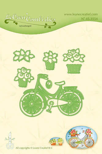 Leabilitie® Bicycle with baskets snij en embossing mal