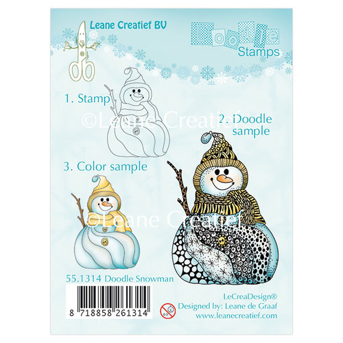 Doodle clear stamp Snowman