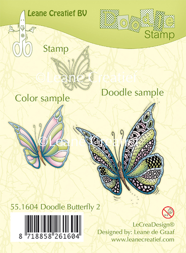 Doodle clear stamp Butterfly 2.