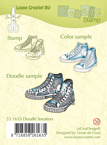 Doodle clear stamp Sneakers