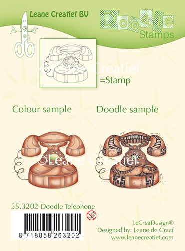 Doodle clear stamp Telephone