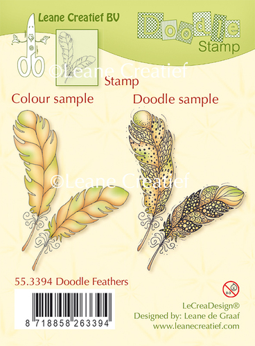 Doodle clear stamp Feathers