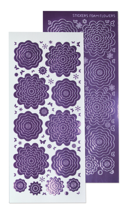 10 Nested Flowers stickers 1. mirror violet
