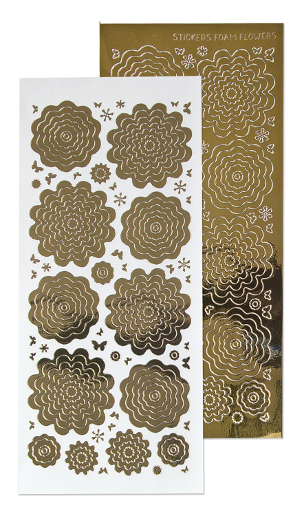 10 Nested Flowers stickers 7. mirror gold