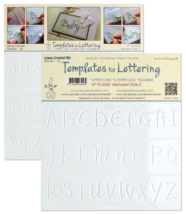 2 Templates for Handlettering Alphabet style 2, Upper case+ Lower case+Numbers