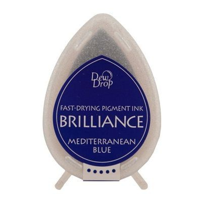 Brilliance Dew Drops inkpads Mediterranean blue