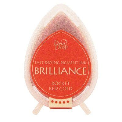Brilliance Dew Drops inkpads Rocket Red gold