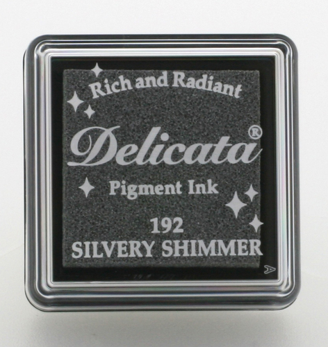 Delicata small Inkpads Silvery Shimmer