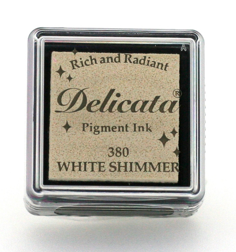 Delicata small Inkpads White Shimmer