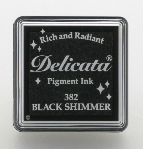 Delicata small Inkpads Black shimmer