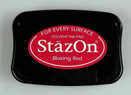 Stazon Ink pad blazing red