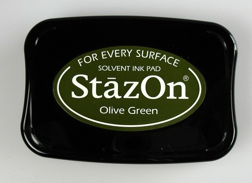 Stazon Ink pad olive green