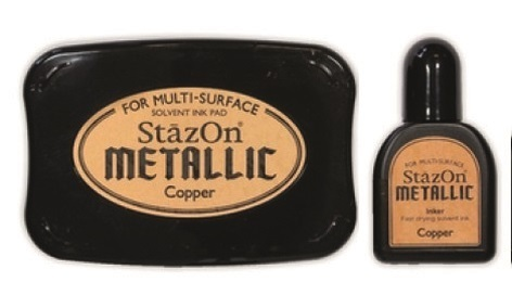 Stazon inkpad set - Metallic - Copper