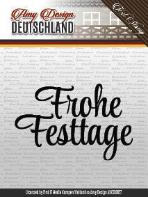Amy Design - Frohe Festtage - Textstamp