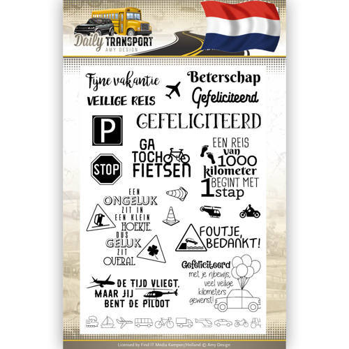 Clearstamp Text - Amy Design - Daily Transport Nederlands