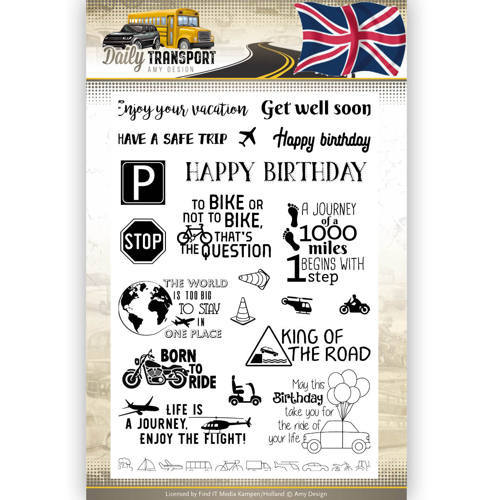 Clearstamp Text - Amy Design - Daily Transport English