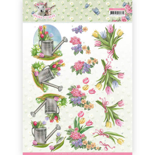 3D Knipvel - Amy Design - Spring is Here - Tulips