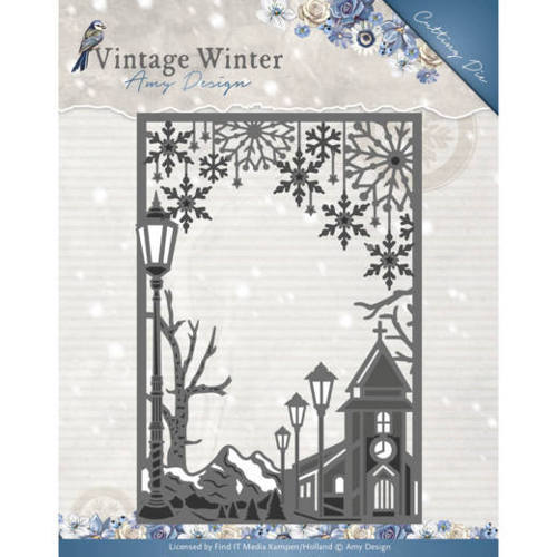 Die - Amy Design - Vintage Winter - Village Frame Straight