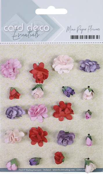Card Deco Essentials - Mini Paper Flowers - Pink