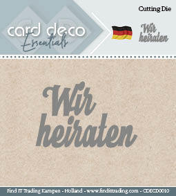 Card Deco Cutting Dies- Wir heiraten