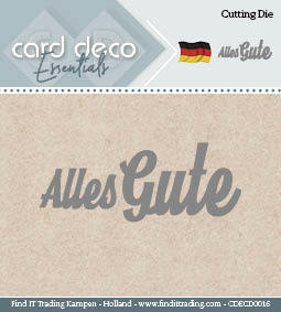 Card Deco Cutting Dies- Alles Gute
