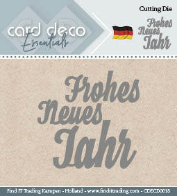 Card Deco Cutting Dies- Frohes Neues Jahr