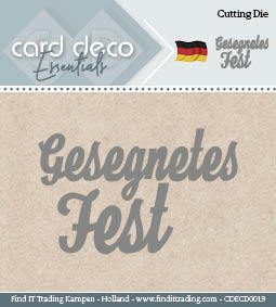 Card Deco Cutting Dies- Gesegnetes Fest