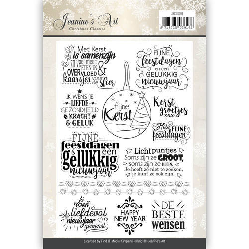 Clearstamp - Jeanines Art - Christmas Classics - Tekst