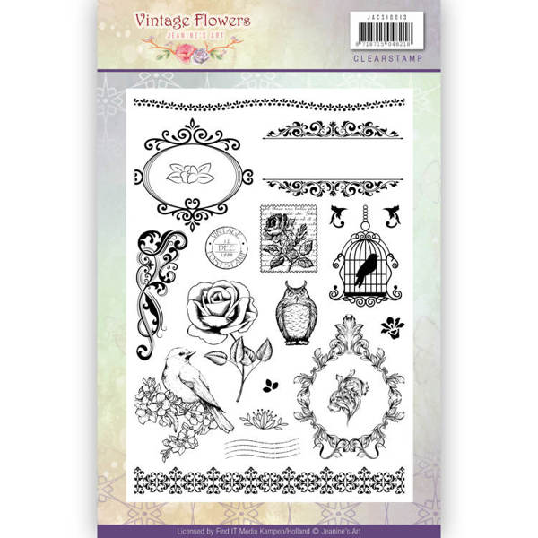 Clearstamp - Jeanine's Art - Vintage Flowers