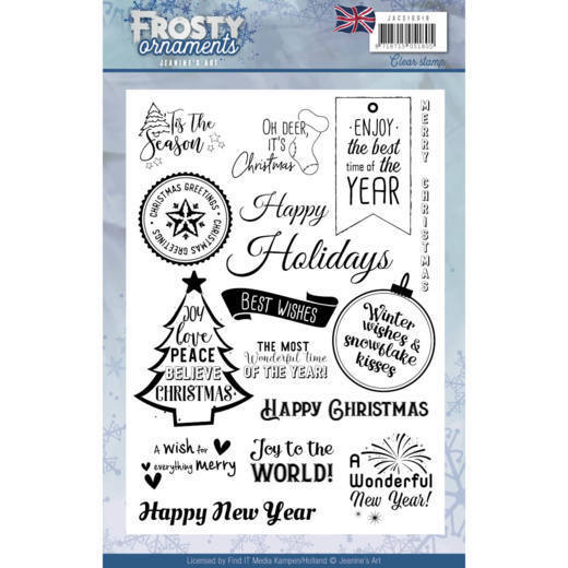 Textstamp - Jeanine's Art - Frosty Ornaments - ENG