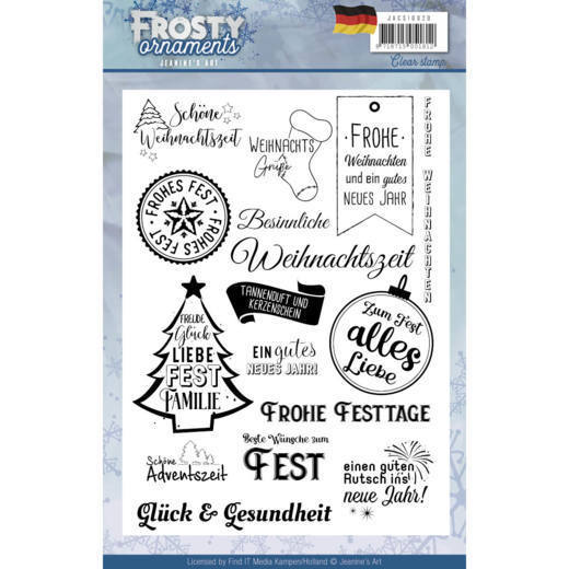 Textstamp - Jeanine's Art - Frosty Ornaments - DE